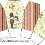Caixa China in Box Casamento Vintage Floral: