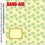 Molde Band-aid Kit Toilet Banheiro Verde e Bege Floral: