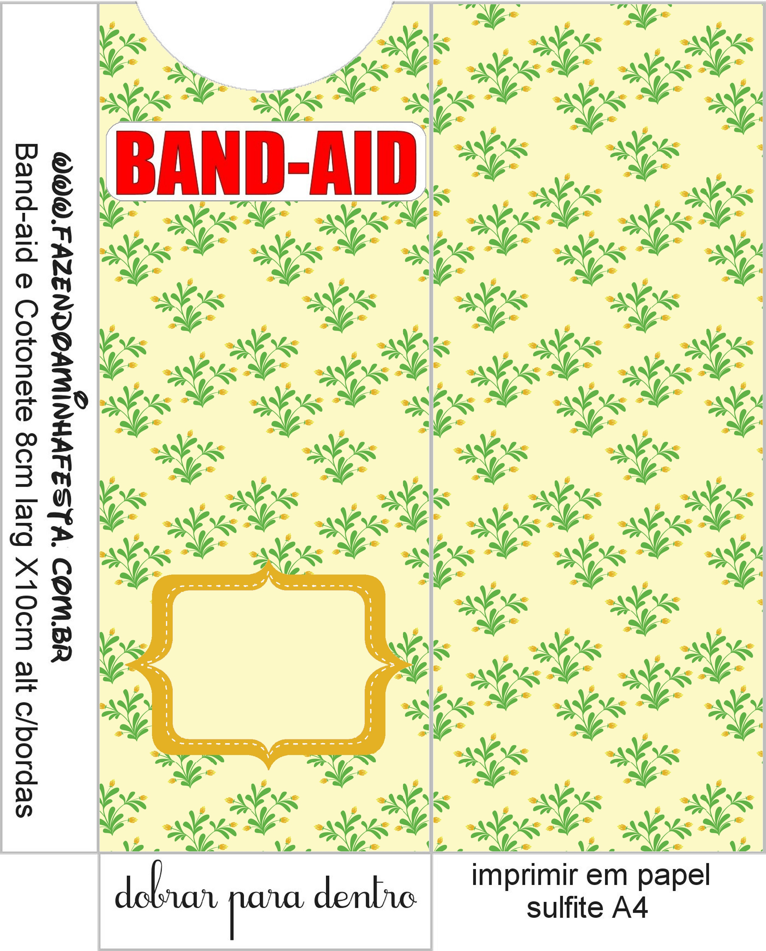 Molde Band aid Kit Toilet Banheiro Verde e Bege Floral: #C40707 2520 3130