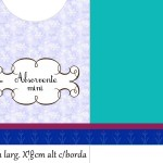 Envelope Absorvente Mini  Kit Toilet Inverno com Azul Tiffany e Vinho: