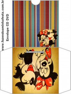 envelope CD DVD Mickey e Minnie Noivado