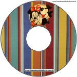 rótulo CD DVD Mickey e Minnie Noivado