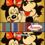 rótulo chicletes adams Mickey e Minnie Noivado