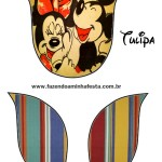 tulipa Mickey e Minnie Noivado