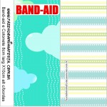 envelope band-aid kit toilet verde e azul