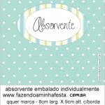 rotulo absorvente kit toilet verde e azul