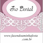 fio dental Kit Toilet Lilas com renda Branca